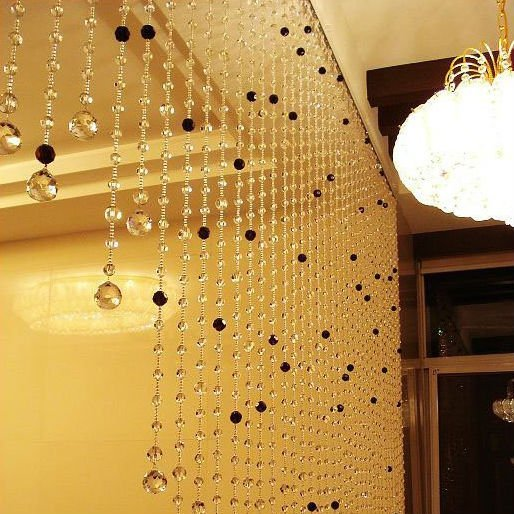 Luxury Crystal beaded curtain for villa decor home decor and room divider (Customizable)
