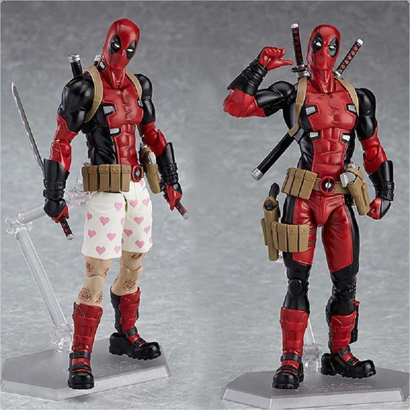 1 pc 15cm Deadpool Figma Luxury Version Pvc Action Figure Toy Anime Deadpool X-Man Different Pose Display Model Toys Kids Jouet deadpool pvc action figure nendoroid series collectible model toy 10cm deadpool toys for anime lovers christmas gift n044