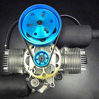 DLE200 powered umbrella gasoline engine double cylinder two stroke 200CC displacement