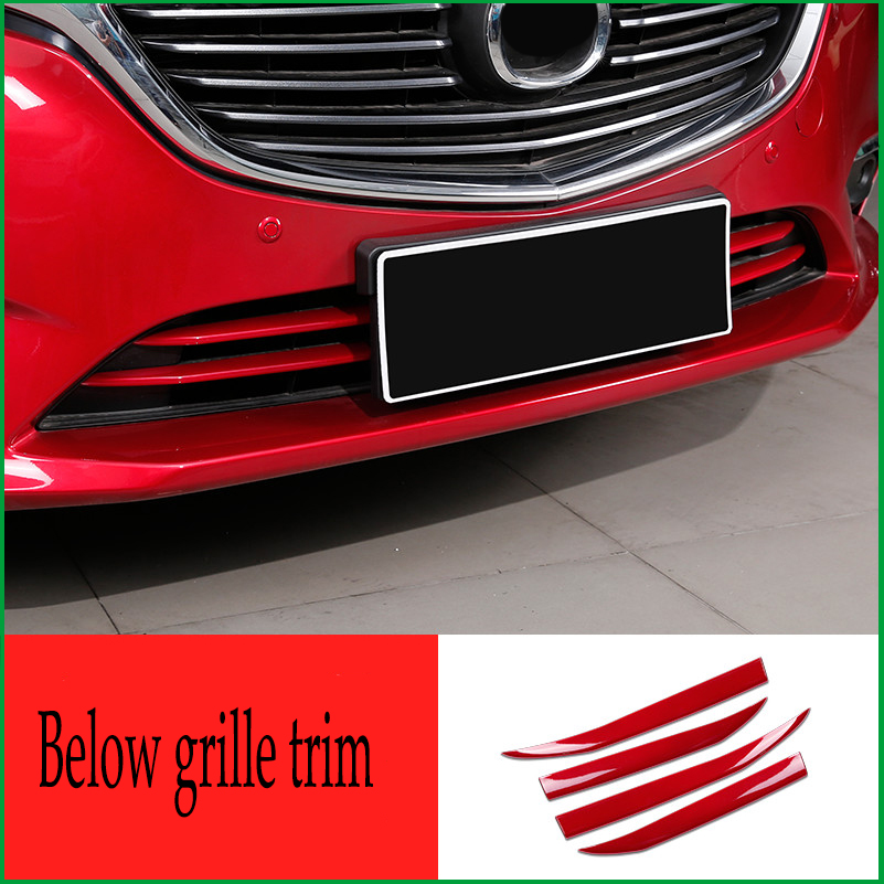 Car-styling Auto Parts For Mazda 6 M6 Atenza 2017 ABS front center grille grill strip Molding Garnish cover trim