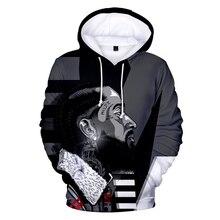2019 New Men Hoodie 3D Nipsey Hussleprint Print Rap Harajuku Sweatshirt Warm Hoodies Leisure hip hop Black Wild Streetwear