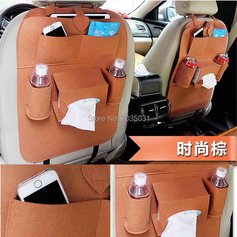 Car Seat Back Storage Bag Organizer Travel Box Pocket for citroen c3 peugeot 3008 hyundai i30 skoda h7 volkswagen golf 4 ford