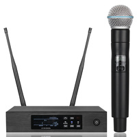 New! QLXD4 Digital True Diversity UHF Wireless Microphone System Professional Single Handheld Mic Perfect Sound Stage Mic