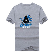 2017 New 100% Cotton Lions  Empire T-shirt Star Wars Darth Vader Detroit T Shirt 0103-1 asia size