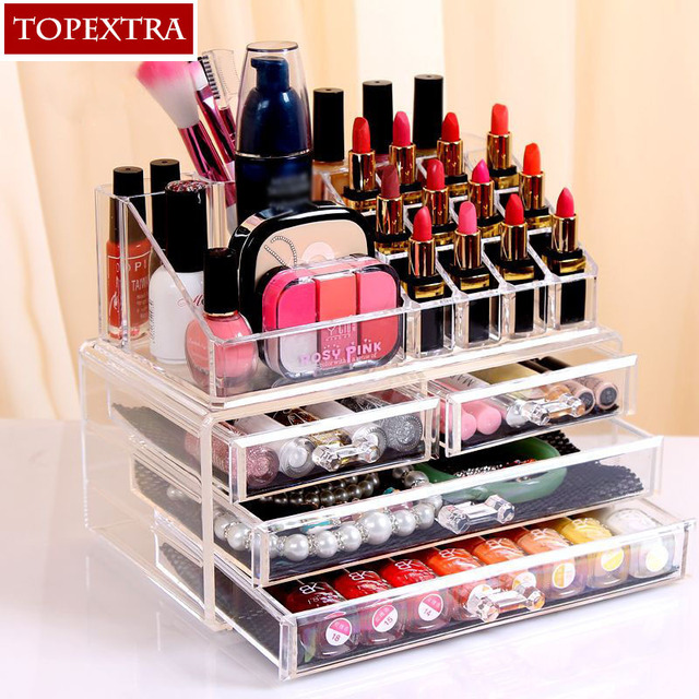 Best Price High Quality Europe Style Acrylic Cosmetic Organizer Jewelry Storage Box Makeup