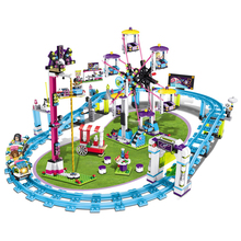 1124pcs New Building Blocks Toys Compatible with Legoingly Friends Series Girls Playground Large Amusement Park Birthday Gifts lepin friends amusement park roller coaster playground building blocks classic girl kids model toys marvel compatible legoings