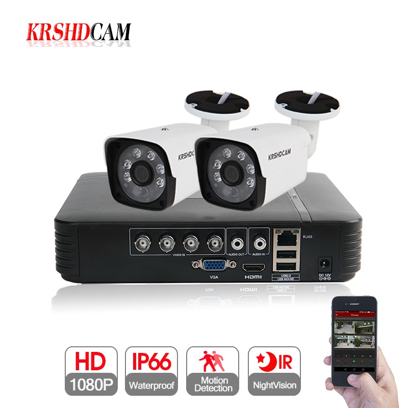 KRSHDCAM 4CH AHD DVR Security CCTV System 30M IR 2PCS 1080P CCTV Camera Outdoor Waterproof Camera Home Video Surveillance KitKRSHDCAM 4CH AHD DVR Security CCTV System 30M IR 2PCS 1080P CCTV Camera Outdoor Waterproof Camera Home Video Surveillance Kit