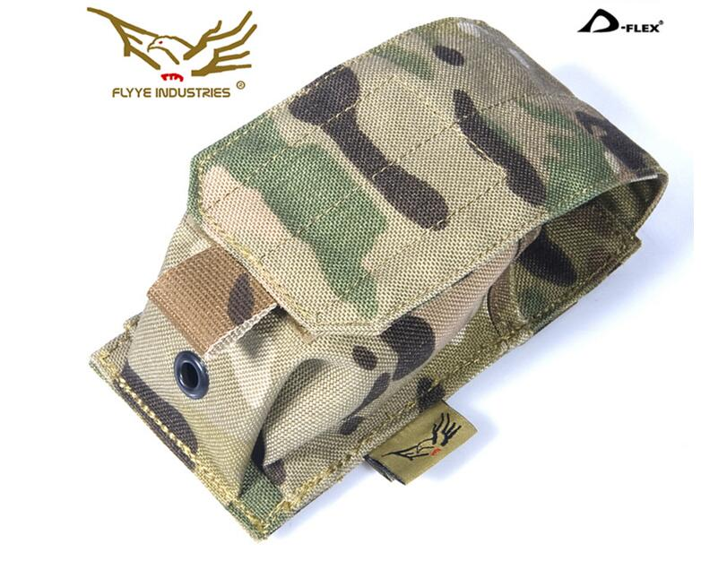 FLYYE MOLLE Smoke Grenade Pouch or Astrolux BLF Flashlights Q8 Holster Hunting Camping Modular Combat CORDURA G003