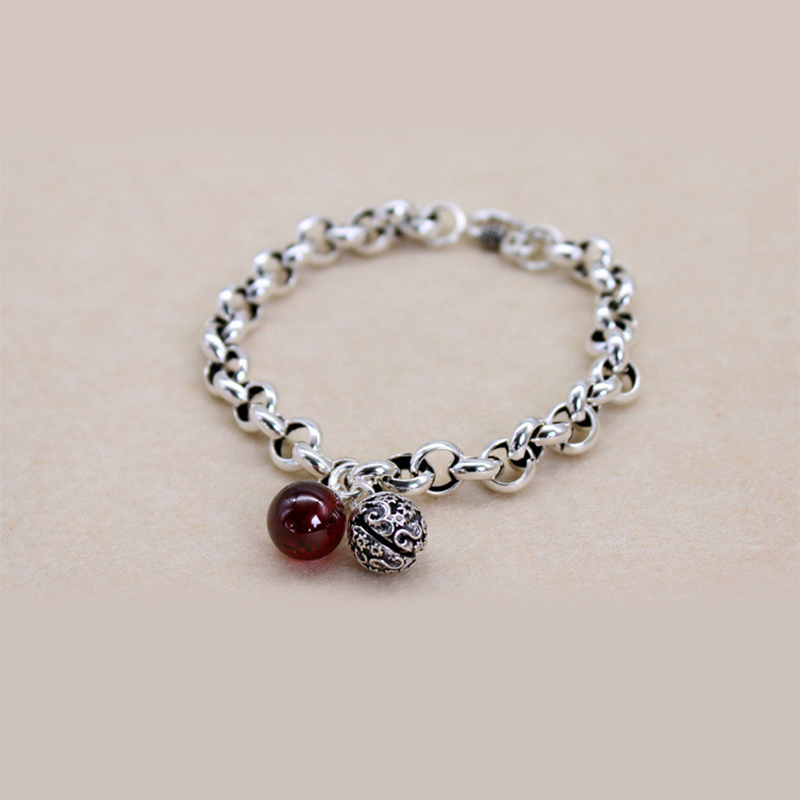 XIYANIKE 925 Sterling Silver hollow bell chain bracelet Wedding Party Statement Jewelry For Women Fashion Bracelet Gifts VBS4149