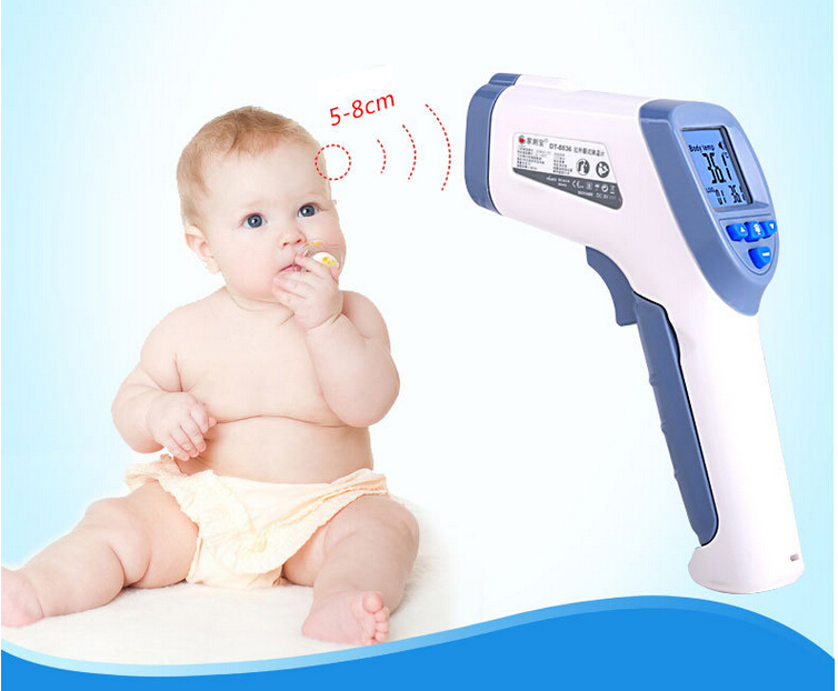 цена на LCD Non-Contact IR Laser Gun Infrared Digital Thermometer Baby/Adult Body Thermometers Children Temperature Measurement Device