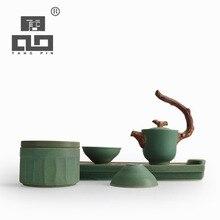 Tangpin 2017 neuankömmling japanischen teekanne keramik wasserkocher teetasse chinesische kung fu tee-set mit tablett
