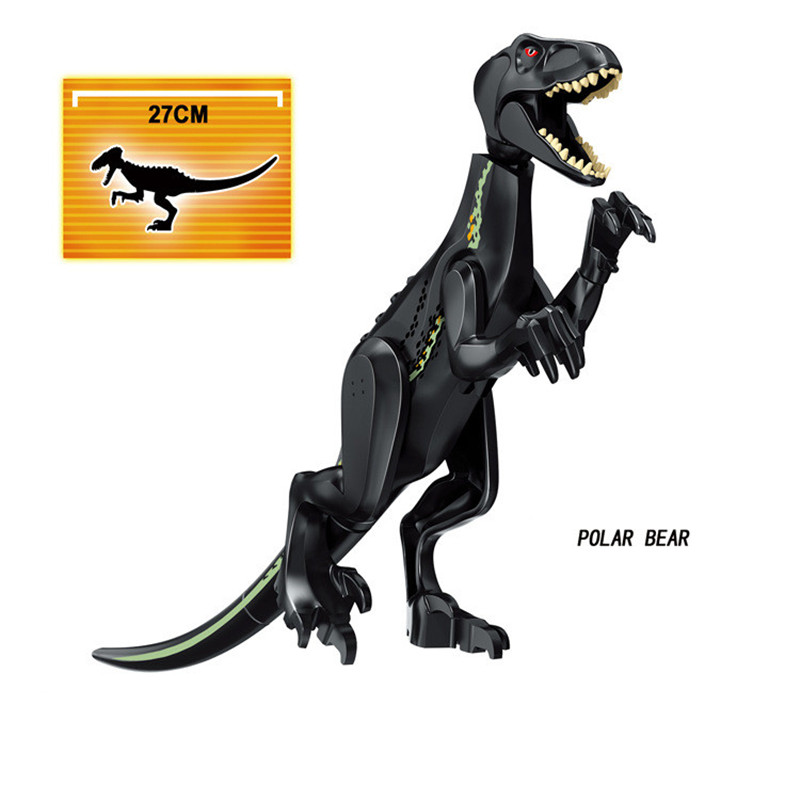 jurassic tyrannosaurus indominus rex indoraptor world park 2 building blocks dinosaur figures toys compatible with legoing Legoing Jurassic Dinosaur World 2 Park Building Blocks Figures Tyrannosaurus Indominus Rex Indoraptor kid Toys For Children
