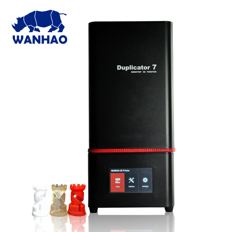 2018 New Wanhao D7 PLUS 3D Printer DLP SLA Duplicator D7 PLUS 3D Machine LCD Touch Screen 250ml UV Resin & FEP Film For Free