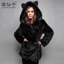 Winter warm Thick Cartoon panda Short outwear Jacket woman Fashion Luxury Faux Fox Fur Coat Women
