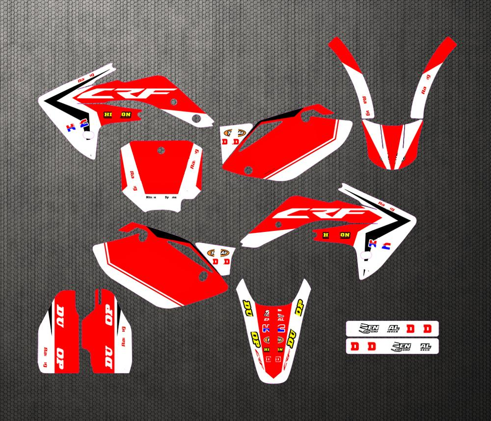 Full set <font><b>Sticker</b></font> <font><b>Kit</b></font> Customized Number Graphics & Backgrounds Personality Decals For <font><b>Honda</b></font> CRF150R CRF <font><b>150</b></font> R CRF150 2007-2013 image