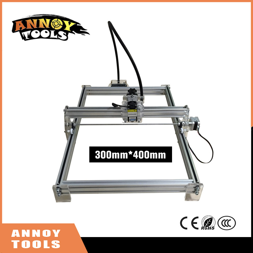 300mw-7000mw DIY desktop mini laser engraving machine marking carving machine, 300* 400 working face Advanced Toys Best Gift  цена и фото