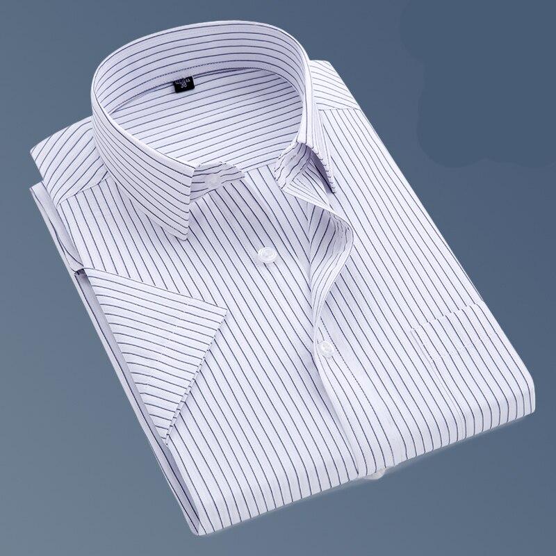 Men Shirt 2018 Summer Brand Business Men Slim Fit Dress Shirt Male Long Sleeve Casual Shirt Solid Cotton Camisa Masculina S-5XL