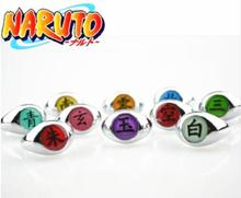 10style Anime HOKAGE Naruto Ring Akatsuki Cosplay Rings Sasori Itachi Hidan Deidara Pein Accessories Prop