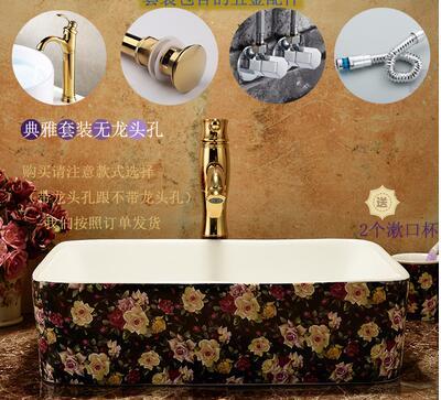Здесь продается  Ceramic art stage basin. Square basin art basin. Wash basin. European pastoral  Строительство и Недвижимость
