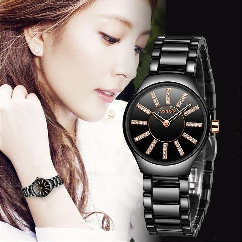 Montre FemmeSUNKTA Top Luxury Watch Women Watches Ladies Creative Womens Ceramic Bracelet Watches Female Clock Relogio Feminino|Women's Watches|Watches - title=