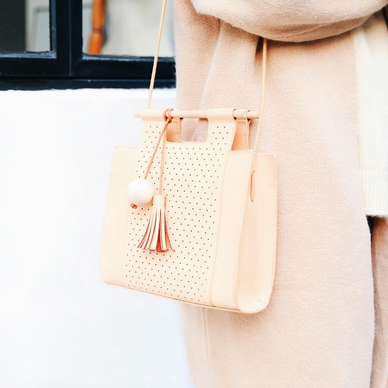 Teeinco genuine leather women's  messenger bag cowhide material one shoulder girl's crossbody handbag LY-0306