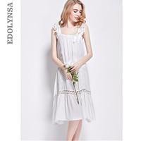2018 Summer Brand Sleep Lounge Women Sleepwear Cotton Solid White Long Nightgowns Sexy Home Dress Nightdress Plus Size