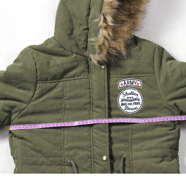 Hooded Overcoat Casual Cotton Padded Jacket