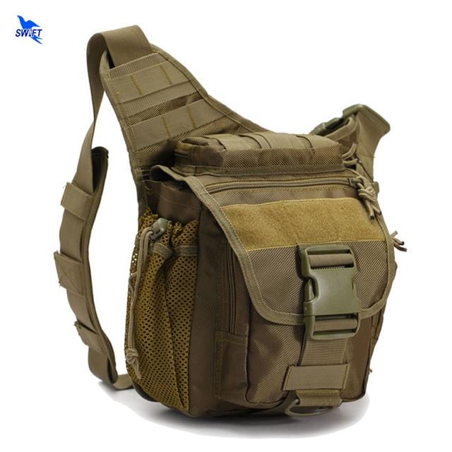 Outdoor Tactical Messenger Bag Waterproof 600D Nylon Material Tactical Military Saddle Bag Single Strap Shoulder Pack Waist Bag