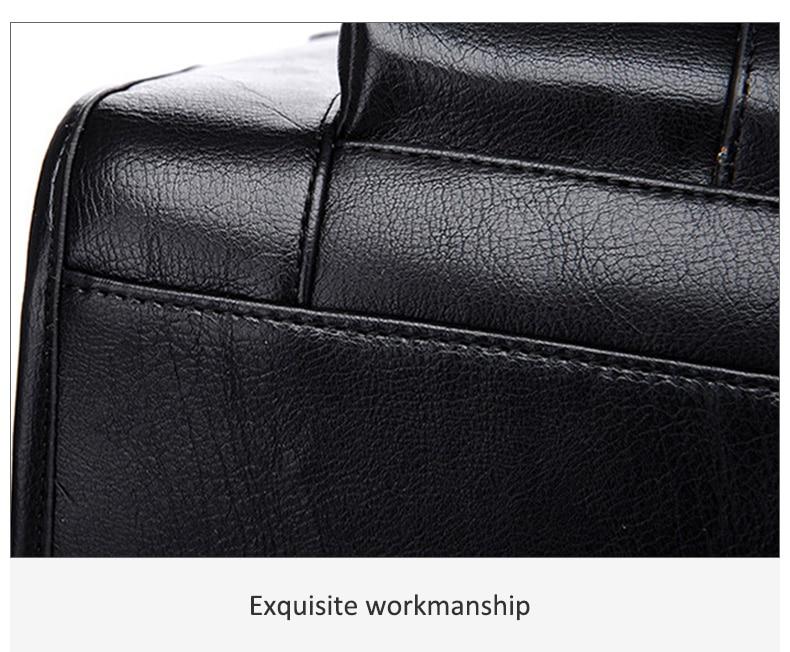 HTB1wJrRJ9zqK1RjSZFjq6zlCFXaC Men Leather Black Briefcase Business Handbag Messenger Bags Male Vintage Shoulder Bag Men's Large Laptop Travel Bags Hot XA177ZC