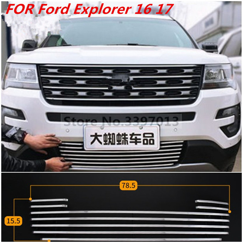 Car Styling For 2013 2017 Ford Explorer Car High Quality Aluminum Metal Racing Grille Auto