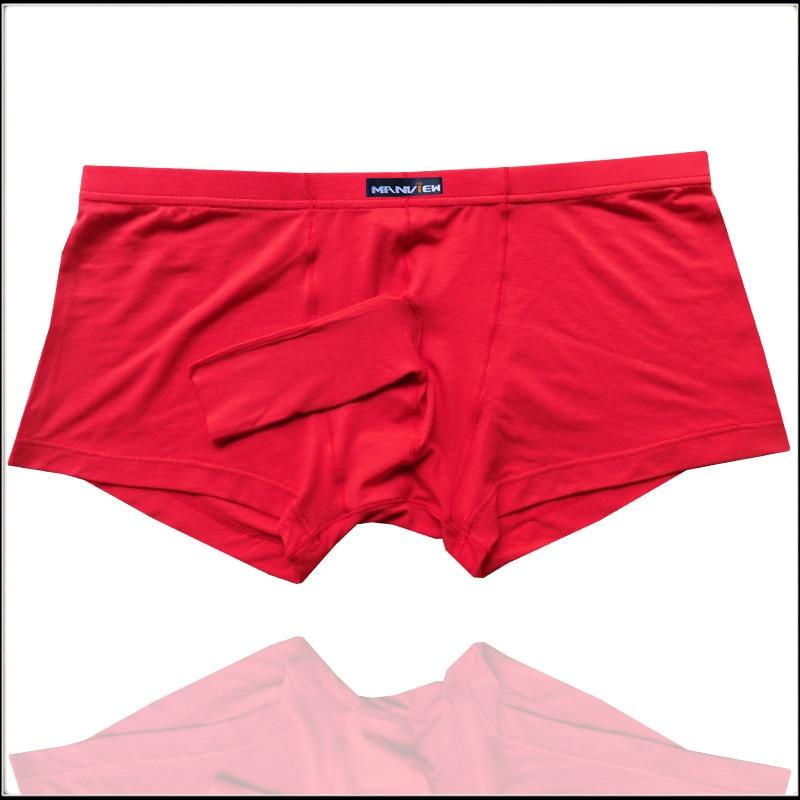 2017 Men's Front-Open Hole Penis Sleeve Boxers Trunks Modal Cotton Cock Sheath Pouch underwear Size M/L/XL boxers
