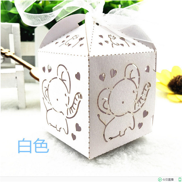 50pc Handmade Wedding Gifts For Guests Cute Elephant Baby Shower