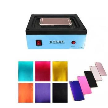 TBK automatic Vacuum coating machine back cover film machine mobile phone Vacuum envelope machine for IPhone SAMSUNG repair tool