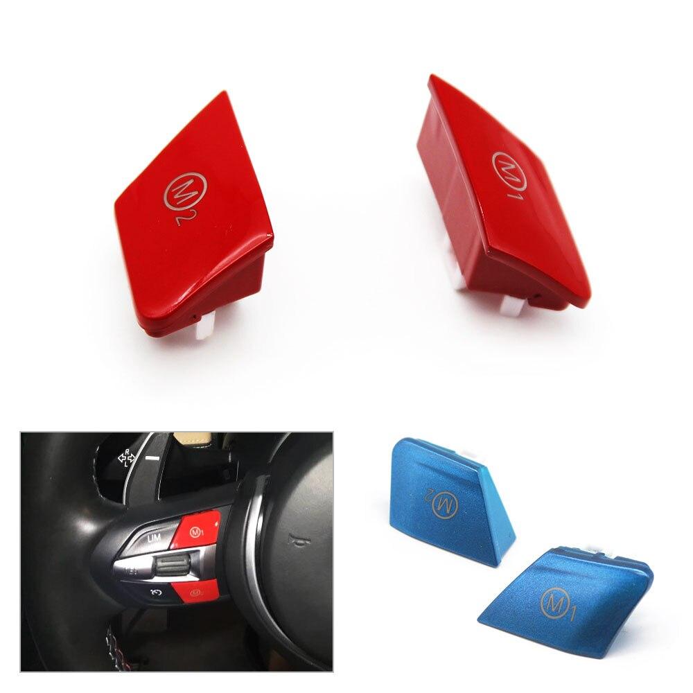 2 шт. красный/синяя машина дизайн кнопку руль персонализированные красный M1 M2 режим настраиваемый переключатель кнопка для BMW M3 M4 F80 F82 F83