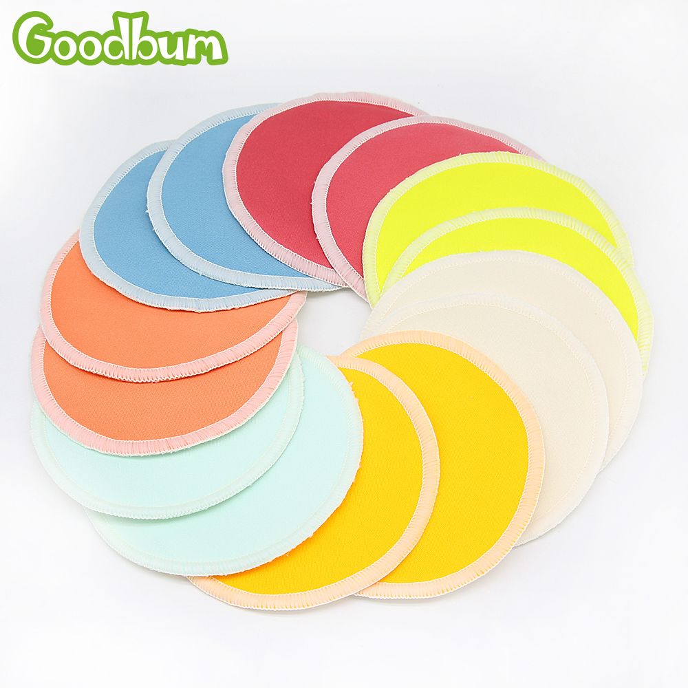 10PC Organic Bamboo Breast Pad Nursing Pads Solid Color For Mum Waterproof Washable Feeding Pad Bamboo Stay Reusable Breast Pad