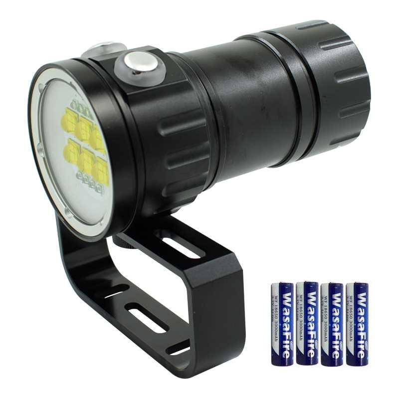 где купить Led Diving Flash Light 18650 Dive Torch Underwater Photography Light White Red Blue LED Fill Light With 18650 Battery Flashlight по лучшей цене