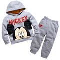 Hot New 2016 spring girls boys cartoon printed children clothing set baby clothes long-sleeve hoodies pant kids sport suit