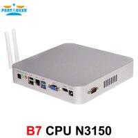 Причастником B7 безвентиляторный промышленный настольный компьютер мини шт N3150 Intel 4 ядра
