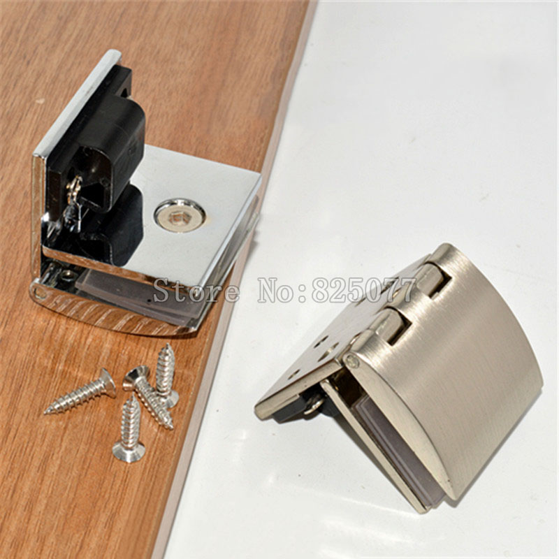 New Zinc Alloy glass door hinge for wine cabinet display window furniture hinges suitable for glass thickness 5-8mm JF1146 hot sale 180 degrees positioning cabinet glass hinge wine cabinet door hinge cabinet door glass hinge up and down hinge kf219