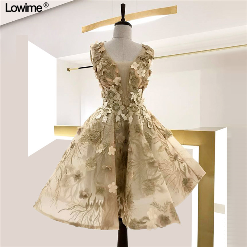 2019 New Arrival A-Line V-Neck Lace   Cocktail   Party   Dresses   Cap Sleeve Illusion Girl   Cocktail     Dresses   vestido coctel