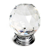 CNIM Hot 16X30mm Diamante Cristal Glass Door Knob Gaveta Punho Puxadores Cozinha + Parafusos