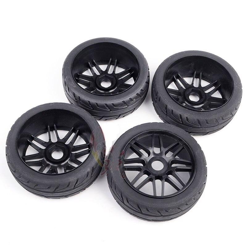 4 STUKS Tire 100mm x 40mm Tyre Wheel voor RC 1/8 Auto Model 1:8 Buggy Op  roard Crawer Auto DIY Onderdelen-in Onderdelen & accessoires van Speelgoed & Hobbies op  Groep 3