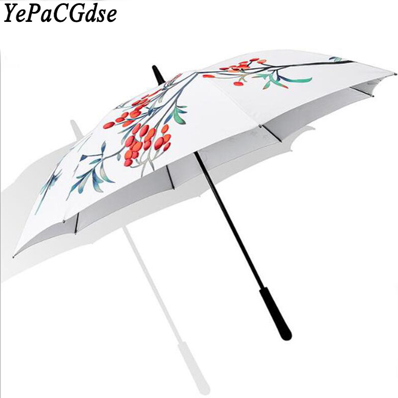 Illustration sunny rain advertising umbrella golf umbrella straight umbrella business long handle umbrella
