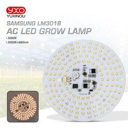 Driverless ac 220v led grow light quantum board LM301B Chip Volledige spectrum 100w samsung 3000 K, 660nm Diepe Rood Voor Veg/Bloom staat