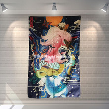 Japanese Ukiyo-e Tattoo Curtain Poster Banners Japanese Restaurant Bedroom Wall Decoration Hanging Art Waterproof Cloth Flags(China)