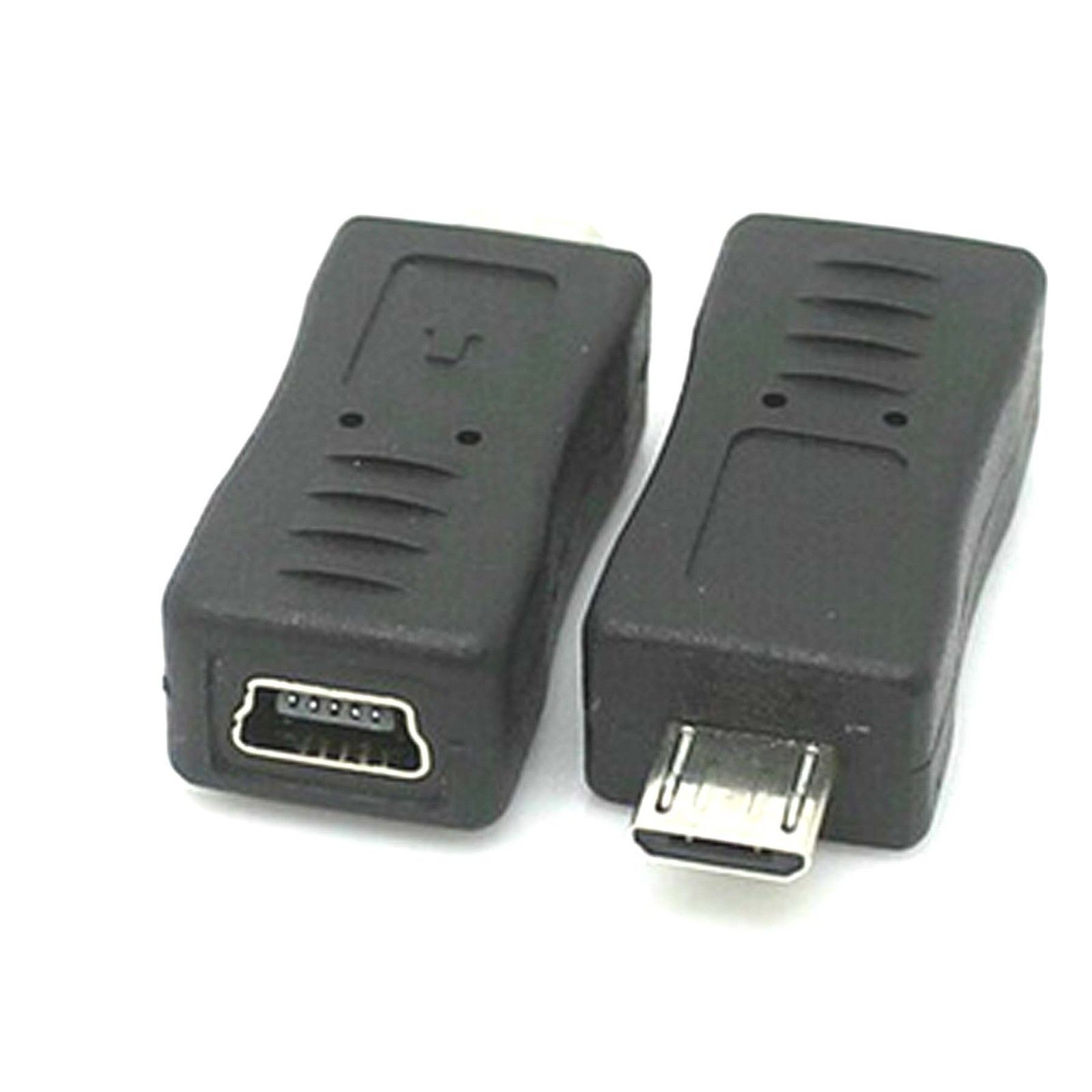 Micro Usb Male Type To Mini Usb Female Charger Adapter Connector Converter New