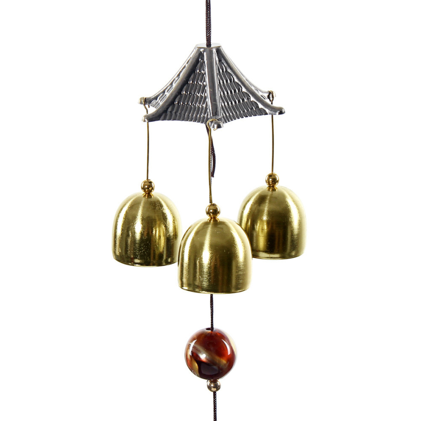 Amazing Great Sound Bronze Color Bells Wind Chimes China