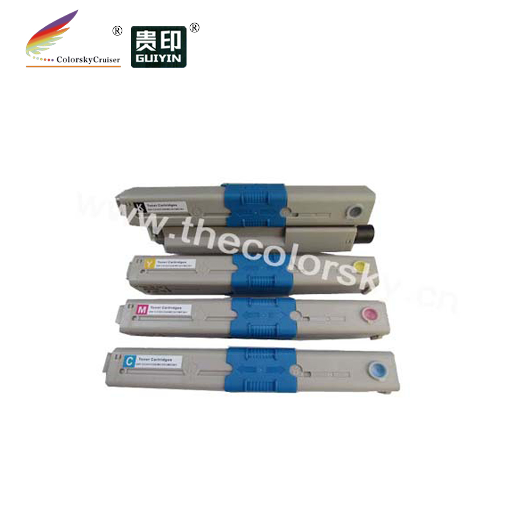 (CS-OMC561) Color toner laserjet printer laser cartridge for OKI MC561DN MC561 MC 561DN 561 44469810 44469754 (5k/5k) free Fedex