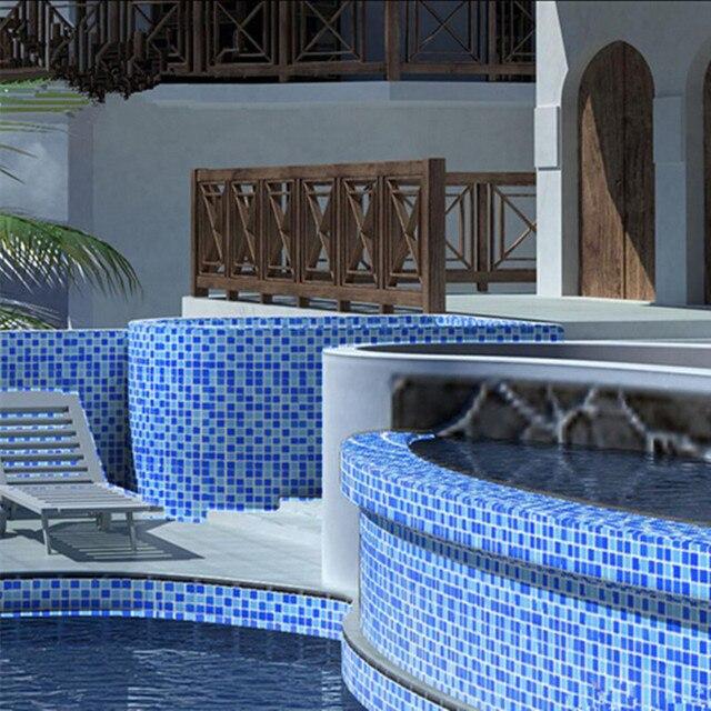 Schwimmbad Glasmosaik Fliesen Balkon Duschbad Blau Fischteich - Mosaik fliesen für balkon