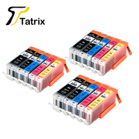 15 PCS PGI 550 CLI 551 For Canon 550 551 Compatible Ink Cartridge For Canon PIXMA